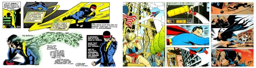 Nexus and Superman / Batman: Worlds Finest, illustrated by Steve Rude