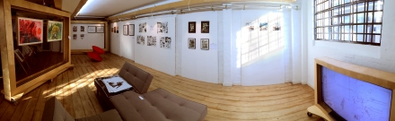 Comic art on display in the exhibition Sequential City at Anise Gallery