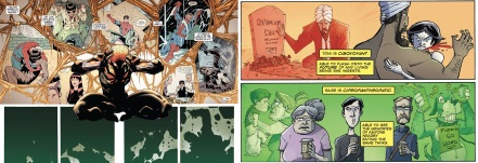 Excerpts from Superior Spider-Man by Dan Slott and various / Chew by John Layman and Rob Guillory