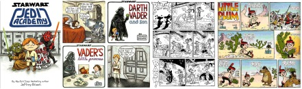 Star Wars comics by Jeffrey Brown / Ratz by Emerson and Howell + Little Plum by Hunt Emerson from the Beano