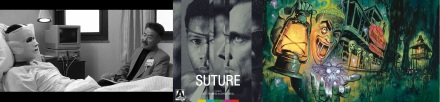Still and Blu-Ray cover of Suture / Frightfest 2016 poster