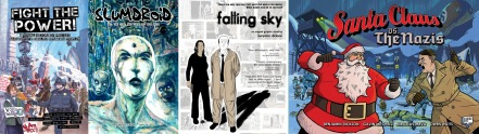 Comics written by Ben Dickson - Fight the Power, Slum Droid, Falling Sky, Santa Claus vs. the Nazis