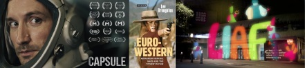 Capsule poster / Cover of Euro-Western by Lee Broughton / LIAF promotional image by Ed Bulmer