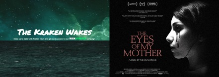 The Kraken Wakes website / The Eyes of My Mother poster