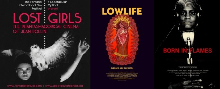 Posters for Lost Girls, Lowlife, Born in Flames