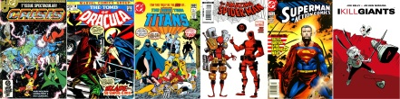 Covers of comics written by Marv Wolfman and Joe Kelly