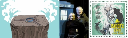 Promotional image for Bakers End / Katy Manning and Colin Baker / Cover of The Happenstance Pox