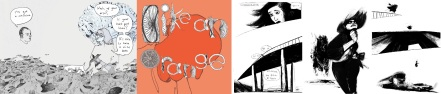 Art from Like an Orange by Wallis Eates and Barking by Lucy Sullivan