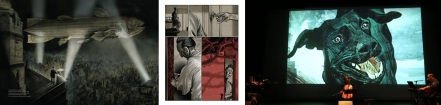 Images from Black Dog by Dave McKean including performance in Amiens