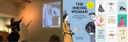 Astrid Schmetterling discusses the work of Charlotte Salomon at the Jewish Museum, London / Cover of The Inking Woman / Selection of Cath Tate Cards