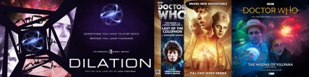 Promotional image for Dilation by Max Hochrad / Doctor Who audio CDs featuring Jessica Martin