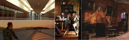 Architecture by Frank Lloyd Wright in THX1138 and Gattaca / Mackintosh Chair in Blade Runner / Unicorn Tapestry in Harry Potter
